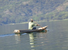 Fisherman along Lake Atitlan