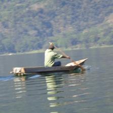 Fisherman along Lake Atitlan