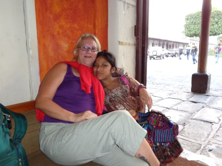 Maria, my new little friend, and I in Antigua, Guatemala